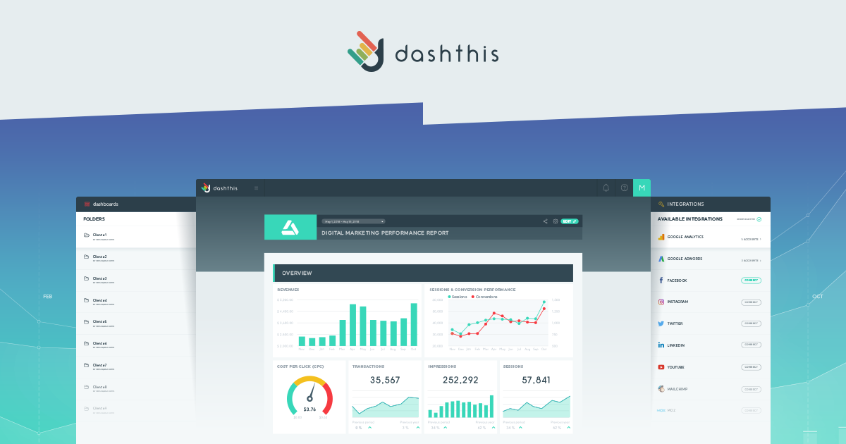 Marketing Reporting Dashboards For Analytics, SEM & SEO | DashThis
