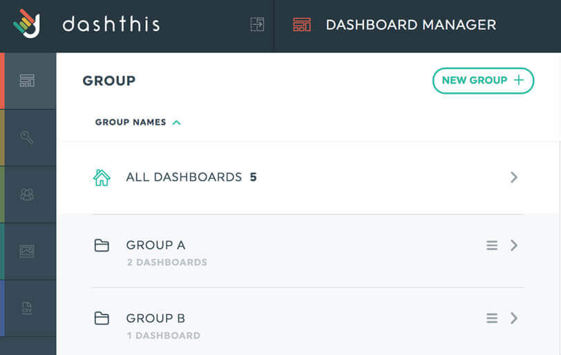 manage many dashboard in your dashboard manager