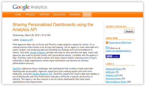 dashthis google analytics blog