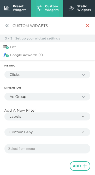 How to filter by labels in Google Ads